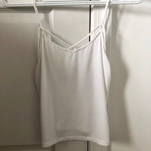 Criss Cross white tank